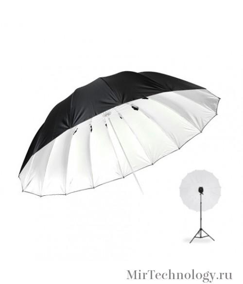 Фотозонт Godox UB-L3 150cm серебро/черный