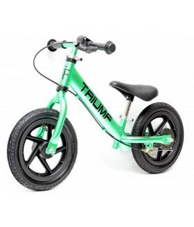 Беговел Triumf active AL-1201TW green на надувных колесах и с ручным тормозом