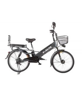Велогибрид Eltreco e-ALFA L Коричневый