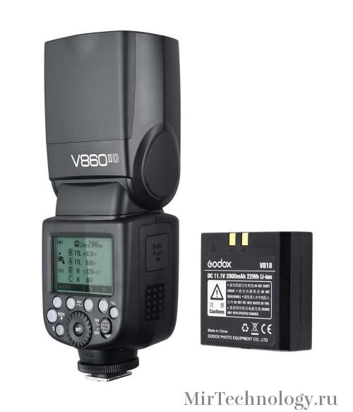 Вспышка накамерная Godox Ving V860II-C TTL для Canon
