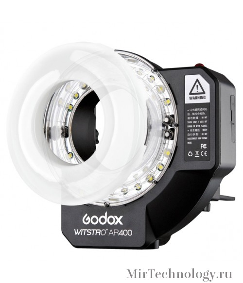 Вспышка кольцевая Godox Witstro AR400 аккумуляторная