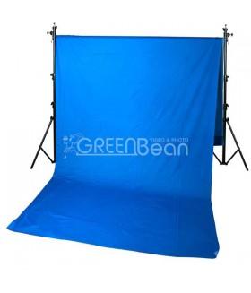 Синий тканевый фон хромакей GreenBean Field 300 х 700 Blue