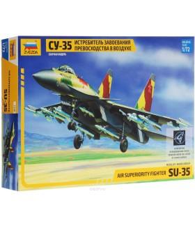 Сборная модель ZVEZDA  истребитель завоевания превосходства в воздухе Су-35 (7240) 1:72