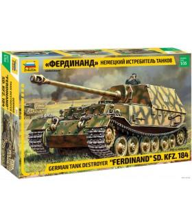 """Сборная модель ZVEZDA Немецкий истребитель танков """"Фердинанд"""" (3653) 1:35"""