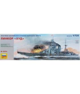 """Сборная модель ZVEZDA Флагман английского флота линейный крейсер """"Худ"""" (9004) 1:720"""