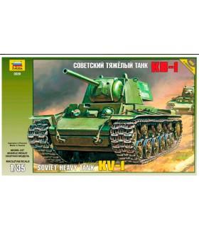 Сборная модель ZVEZDA Советский тяжелый танк КВ-1 (3539) 1/35