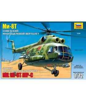 Сборная модель ZVEZDA Советский многоцелевой вертолёт Ми-8Т (7230) 1:72