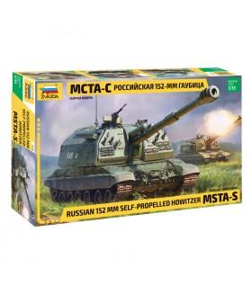 Сборная модель ZVEZDA Российская самоходная 152-мм артиллерийская установка Мста-С (3630) 1/35