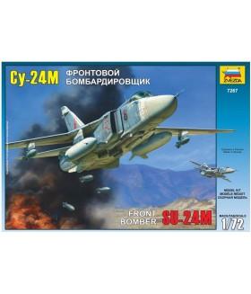 Сборная модель ZVEZDA Фронтовой бомбардировщик Су-24М (7267) 1:72