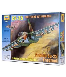 Сборная модель ZVEZDA Советский самолёт штурмовик Су-25 (7227) 1:72