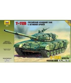 Сборная модель ZVEZDA Российский основной танк с активной броней Т-72Б (3551) 1/35