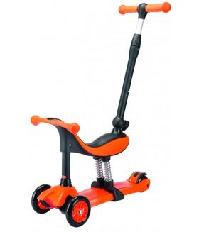 Трехколесный самокат TechTeam Genius оранжевый