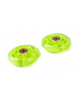 Светящиеся колеса задние 80 мм (2 шт.) Зеленый