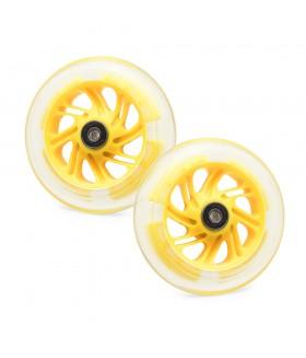 Светящиеся колеса передние 120 мм (2 шт.) Желтый