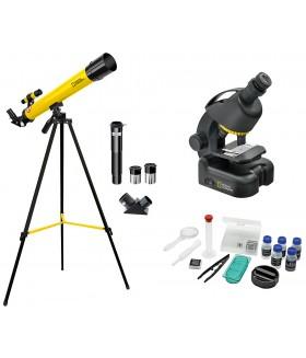 Набор Bresser National Geographic: телескоп 50/600 AZ и микроскоп 40–640x