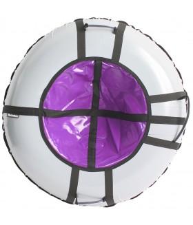 Тюбинг Hubster Ринг Pro серый-фиолетовый, размер 105 см