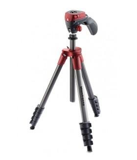 Manfrotto MKCOMPACTACN-RD Compact Action штатив с фото- и видеоголовкой для фотокамеры (красный)