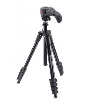 Manfrotto MKCOMPACTACN-BK Compact Action штатив с фото и видеоголовкой  (черный)