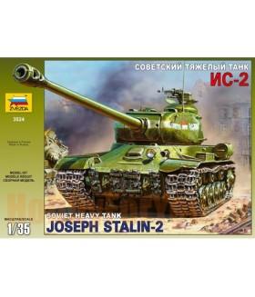 Сборная модель ZVEZDA Советский тяжёлый танк ИС-2 (3524) 1/35