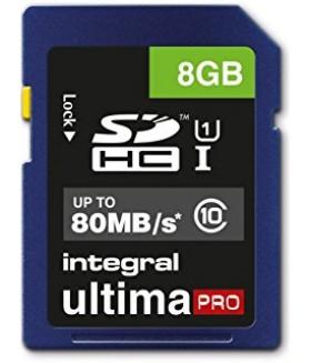 Карта памяти Integral Ultima Pro SDHC 8Gb Class 10 U1 80mb