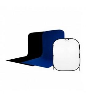 Фон складной Visico BP-026 1,5х1,8х2 чер/бел/син с пологом