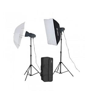 Импульсный свет комплект VISICO VL PLUS 300 Soft Box/ Umbrella KIT
