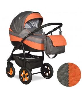 Коляска CAMILA 18 F 3в1 (Indigo) Ca 49 (серый+оранжевый)